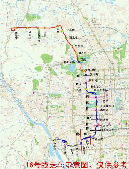 人民网北京12月5日电 据北京地铁公司官方微博消息,北京地铁16号线图片