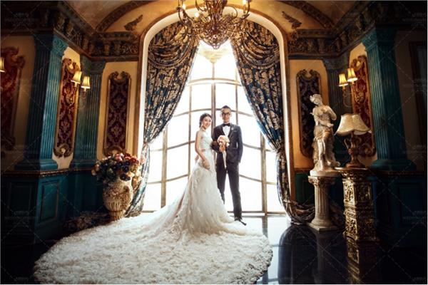 欧式婚纱摄影发型图片