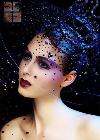中国人胆人体艺术_梦幻妆:是人体美术的展示,艺术的构思,可改变模特自身的原样,以怪异