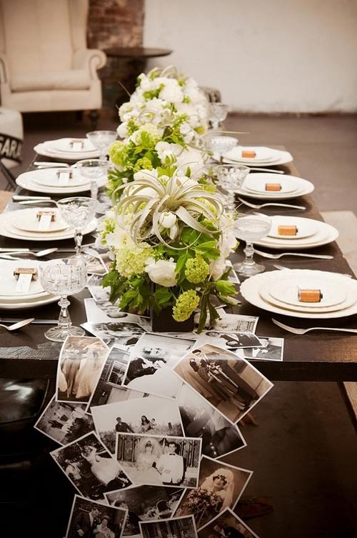 西式婚礼场景布置图 长餐桌该如何布置