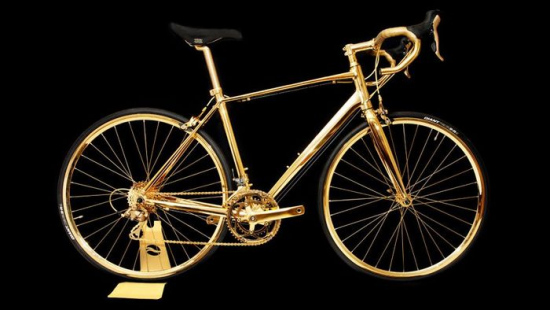 土豪世界难理解,黄金打造自行车标价25万英镑
