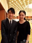 图文:李子君庆祝18岁生日 和羽生结弦合影