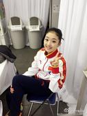 图文:李子君庆祝18岁生日 标准剪刀手