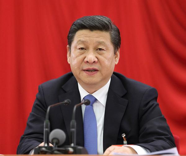 中国共产党第十八届中央委员会第三次全体会议,全会由中央政治局主持,中央委员会总书记习近平作重要讲话。新华社记者 兰红光