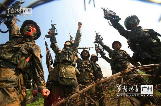 资料图:中国特种部队激励斗志。
