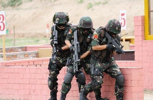 资料图:解放军特种部队演练。