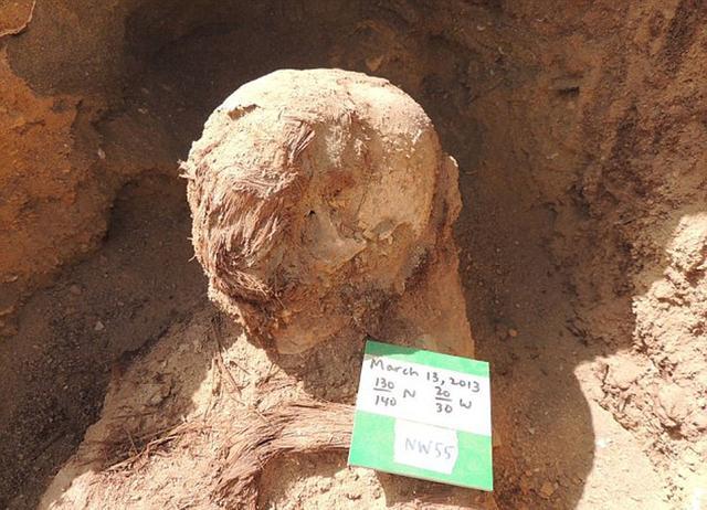 很多出土的木乃伊被亚麻布包裹。(网页截图)