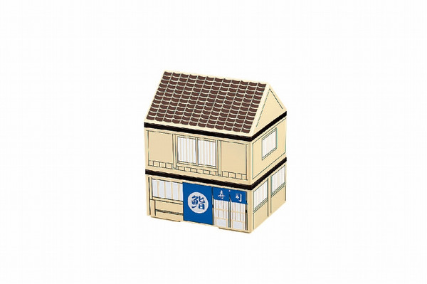 这款房子便当盒 外壳是寿司店的造型 如果在里面摆放精致的寿司图片