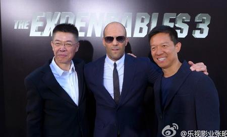 张昭和贾跃亭在美宣传《敢死队3》