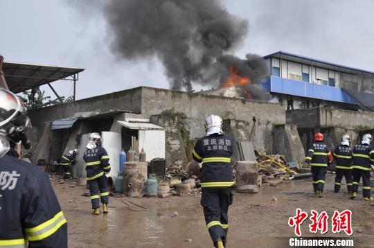 图为火灾现场 消防供图