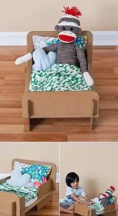 纸盒手工制作小床