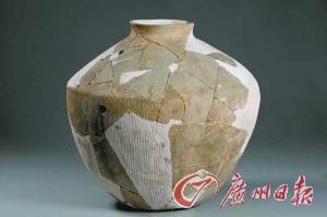 辛庄遗址发现的陶罐