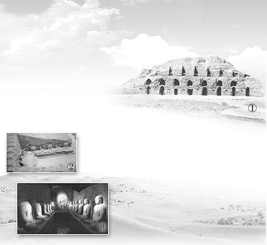 图:北庭故城西大寺遗址。