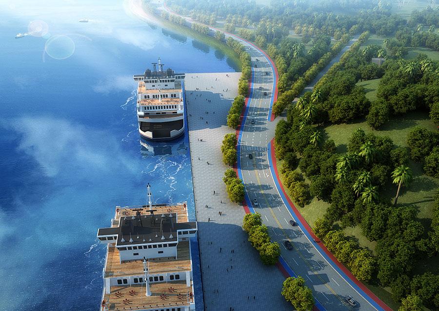 防城港江山半岛环岛东路扩建工程开工建设