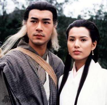 95版《神雕侠侣》中的古天乐和李若彤-萌版小龙女再出新照 神雕侠侣