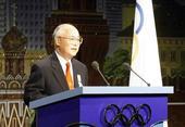图文:何振梁的奥运人生 2001年7月13日何振梁