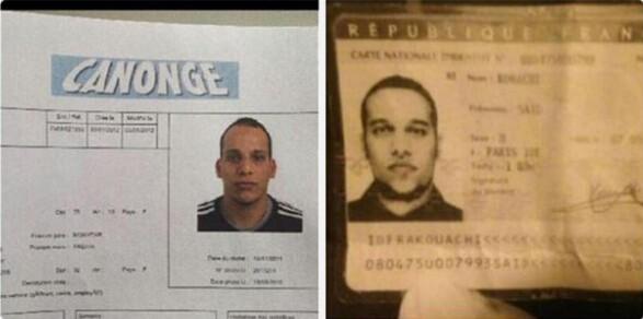 俄媒公布法国恐怖袭击案件疑似嫌犯照片,但由于所发照片无法看清姓名,因此难以判断是三人中的哪两人。
