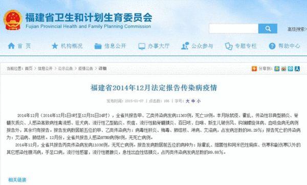 住在福清市的叶姓男子,被确诊为1例人感染h7n9病例;随即,福建省卫生和图片