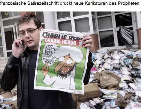 周刊接下来的一期继续讽刺主题,漫画的标题叫《爱比恨的力量大》。结果,这本杂志被伊斯兰团体告上了法庭。