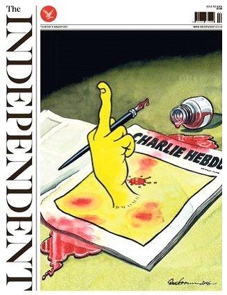 【盘点】第二天,外媒这样抗议《查理周刊》遇袭…