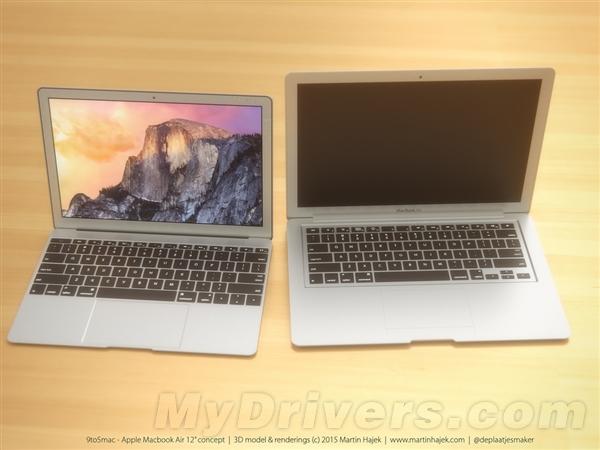 12寸MacBook Air高清渲染图:真是美