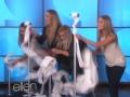 《艾伦秀第12季片花》S12E76 疯狂女观众上演抽纸筒大赛
