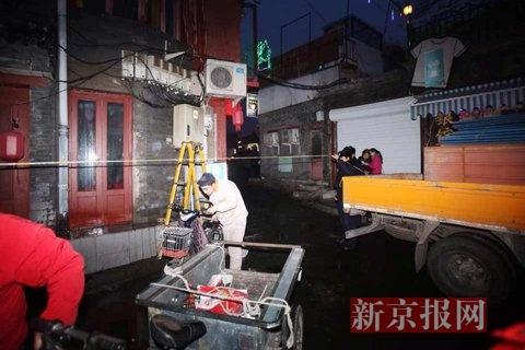 市政职员封闭现场。新京报记者 彭子洋 摄