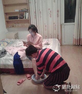 做个靠谱的老公就得为老婆洗脚