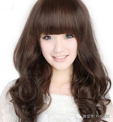 2015齐刘海中长发发型,清纯迷人又减龄