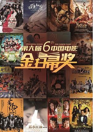 """第6届""""金扫帚奖""""海报"""