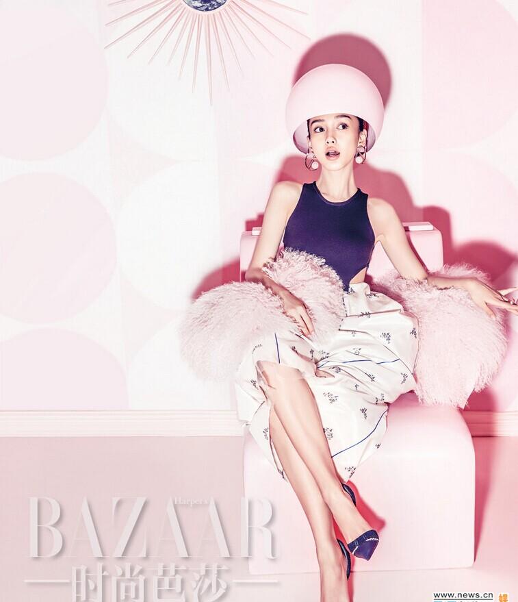 Angelababy少女风写真 化身梦幻童话芭比