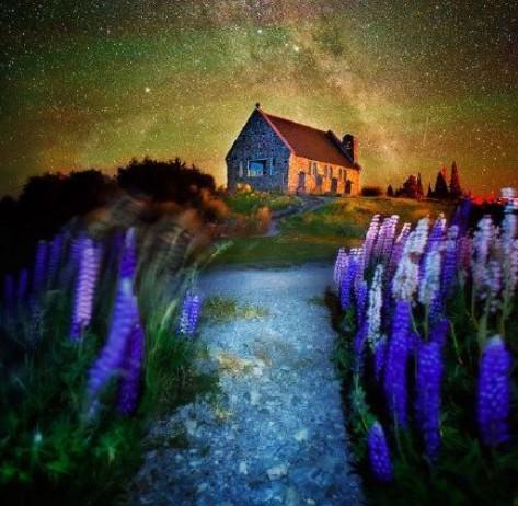 最美的地方�9�+���9�_全世界星空最美的地方-新西兰的小镇特卡波