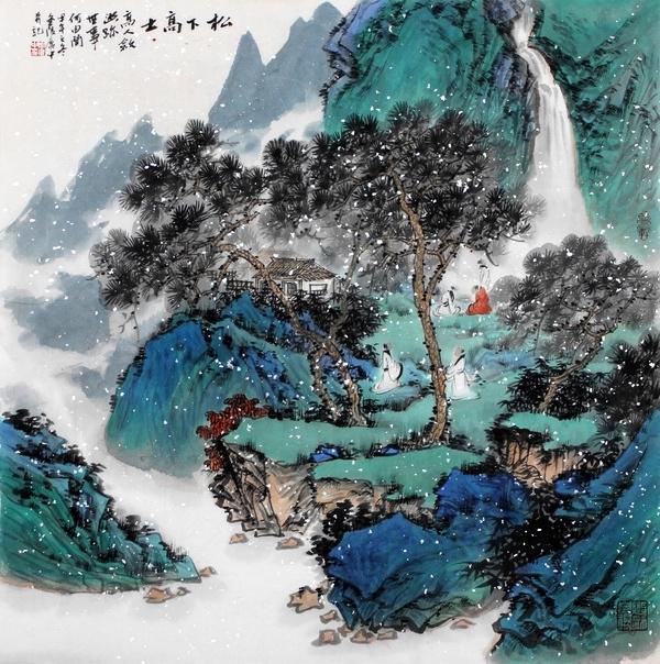 周广中2015青绿山水画赏析