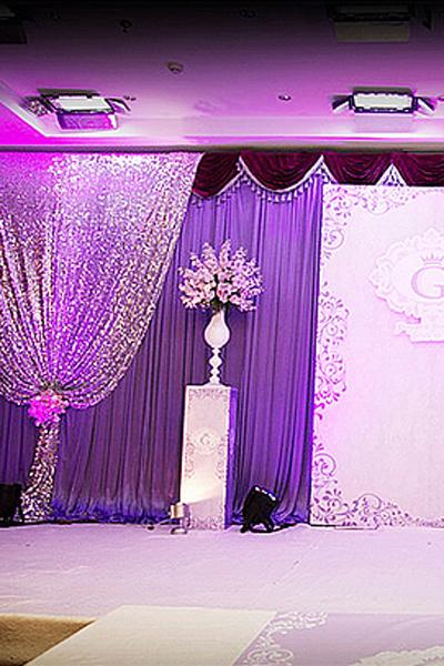 紫色婚礼现场布置攻略 打造最浪漫婚礼