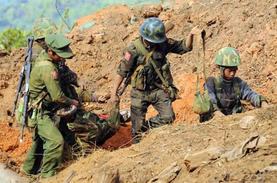 资料图:缅北前线战况。