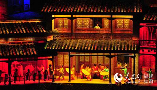 新版《印象大红袍》茶农制茶片段