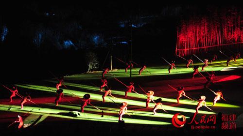 新版《印象大红袍》绿筏红竿片段