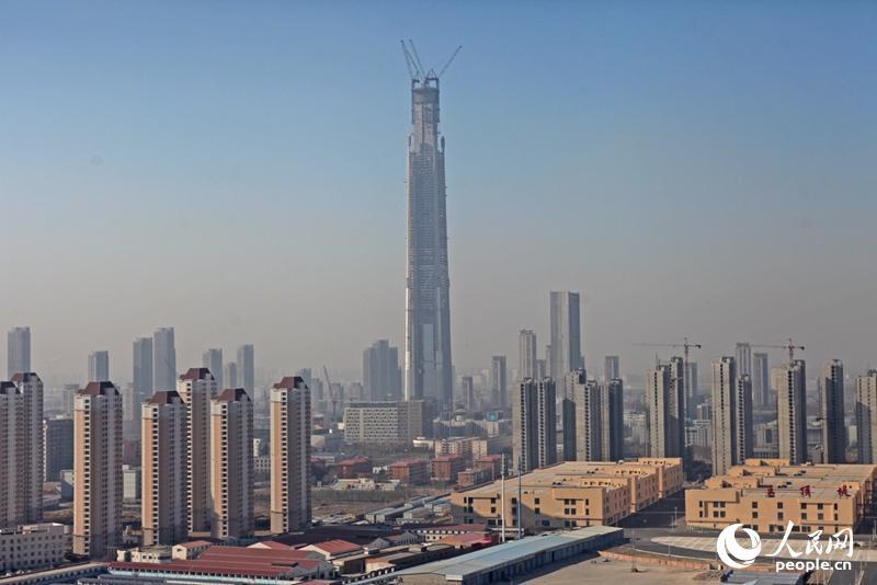 北方第一高楼天津117大厦突破500米 成为世界第8座超500米的摩天大楼