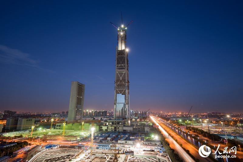 北方第一高楼天津117大厦突破500米 成为世界第8座超500米的摩天大楼(组图)-搜狐