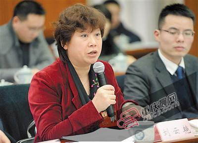 政协委员刘云艳在讲话。