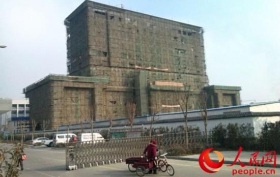 正在建设中的徐州贾汪区公安分局办公大楼 闫峰/摄