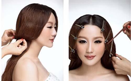 韩式新娘盘发步骤_