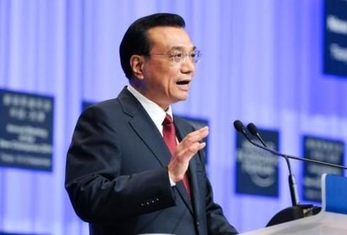 2014年9月10日,夏季达沃斯论坛开幕式在天津梅江会展中心举行,中国国务院总理李克强出席并致辞。中新社发 刘震 摄