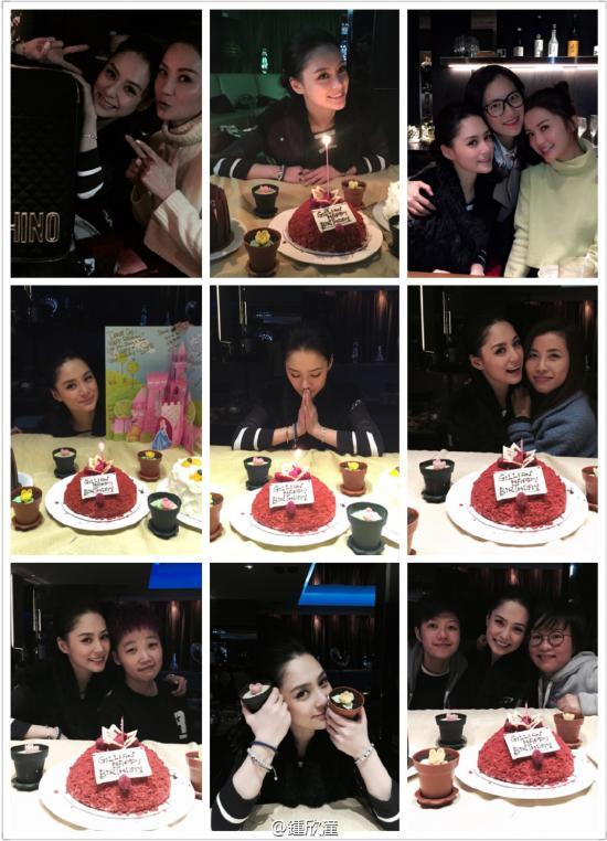 """阿娇钟欣桐21日将度过34岁生日。20日晚,阿Sa微博上晒出Twins合体照片,并送上祝福:""""小娇娇生日快乐,爱你!"""""""