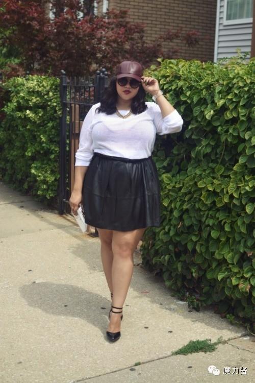 胖女生们最励志的50种时尚穿衣攻略!米正常5多重1的姑娘图片