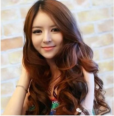 韩式中长发烫发发型14图,修颜减龄!图片