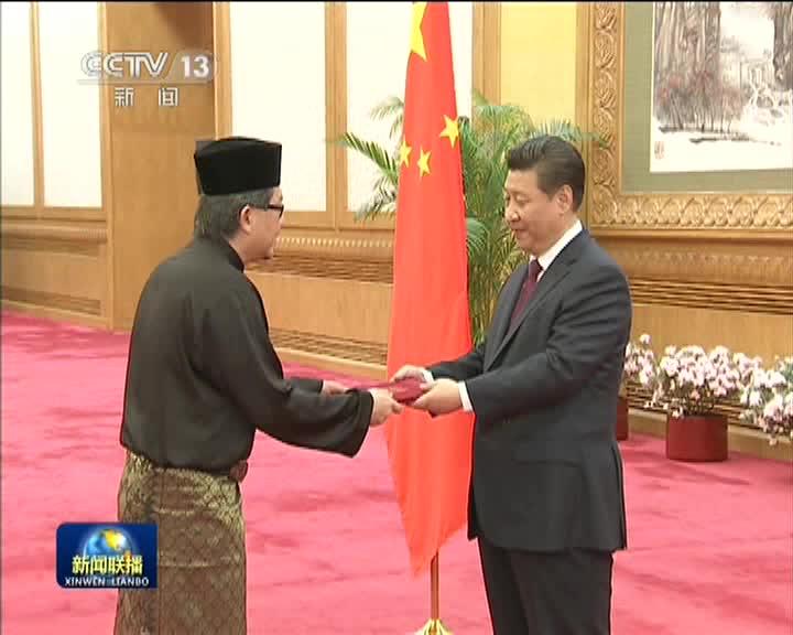 习近平接受八国新任驻华大使国书