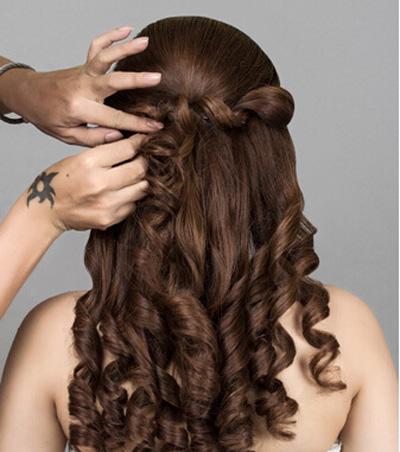 韩式新娘发型步骤 幸福像花儿一般绽放