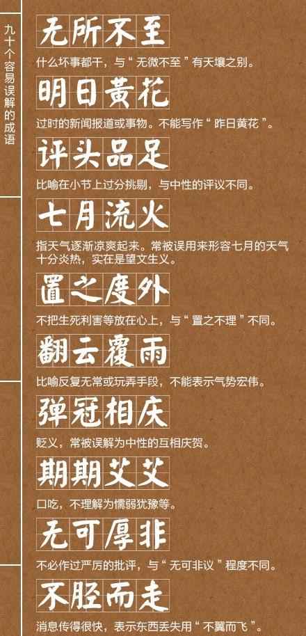 容易混淆的成语(初中生必看)招生简章初中武汉外国语图片