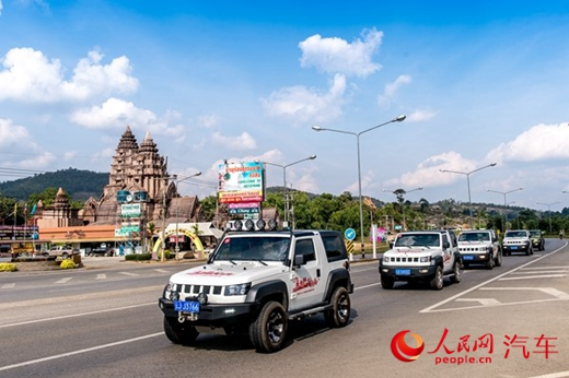 """1月22日晚,北京(BJ)40昆曼公路试驾之旅成功收官,这是北京(BJ)40首次出国试驾活动。本次试驾活动共历时4天,跨越""""中・老・泰""""三国边境,总行程1400公里。"""